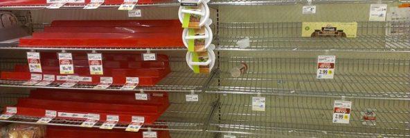 ruptura nas gôndolas de supermercados